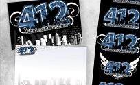 412 Logo & Postcard