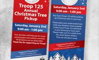 Christmas Tree Pickup Door Hanger